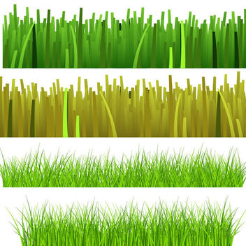 Grass & Grassy Plant Set - Kostenloses vector #166231