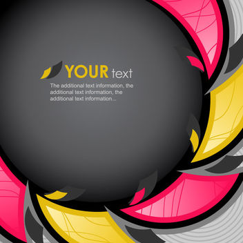 Circular Banner with Abstract Triangle Curves Around - vector gratuit #166291
