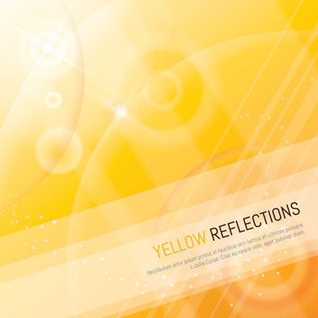 Yellow Reflection Background with Lines and Shades - vector gratuit #166381