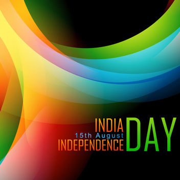 Indian Independent Day Colorful Background - vector gratuit #166461