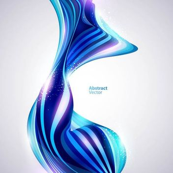 Glossy Abstract Blue Curves Background - Free vector #166511