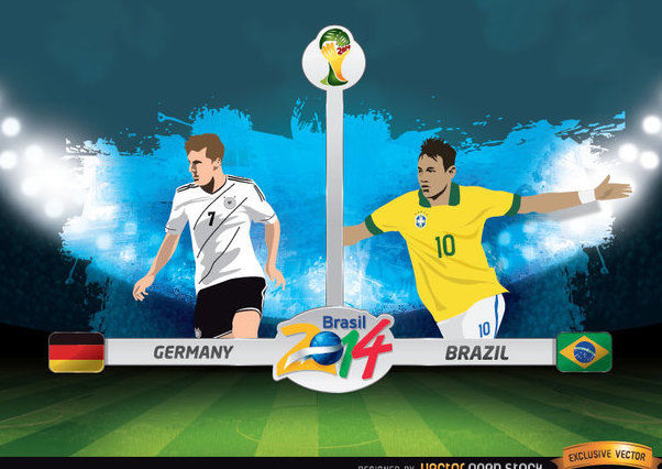 Germany Vs. Brazil FIFA World Cup - vector gratuit #166631