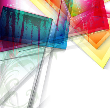 Fluorescent Colorful Glass Sheets Abstract Background - vector gratuit #166641