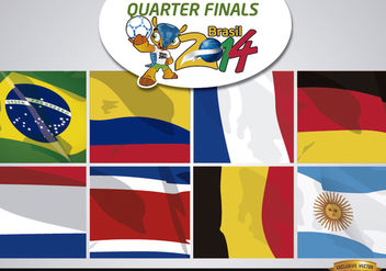 Brasil 2014 Teams for quarter finals - vector gratuit #166681