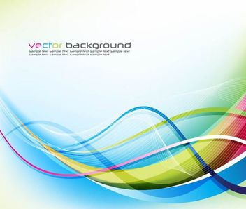 Colorful Curvy Lines and Waves Background - Free vector #166711