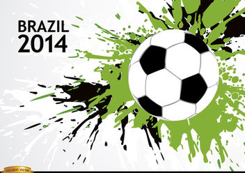 Grunge soccer background Brazil 2014 - Free vector #166881