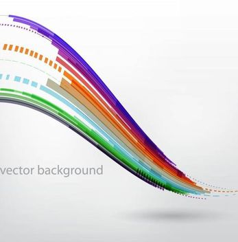 Colorful Abstract Wavy Lines Grey Background - Free vector #166921
