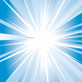 Shiny Swirling Blue Starburst Background - vector gratuit #166931