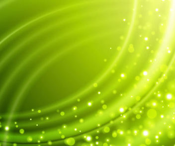 Green Wrinkled Background with Bokeh Bubbles - бесплатный vector #166941