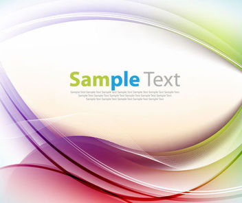 Colorful Silky Waves Template Background - бесплатный vector #166961