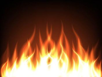 Realistic Leaping Flames Background - vector gratuit #167011