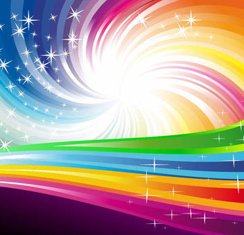 Rainbow Vortex Background with Swirling Lines - Free vector #167021