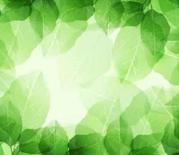 Fresh Green Leaves Frame Background - vector #167041 gratis