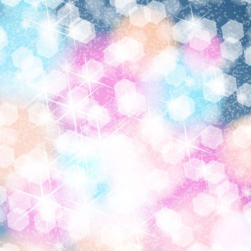 Shiny Colorful Background with Blinking Honeycomb - Free vector #167061