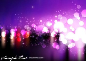 Purple Background with Blurry Bokeh Lights - vector gratuit #167141