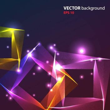 Abstract Colorful Glowing Background with Squares - бесплатный vector #167181