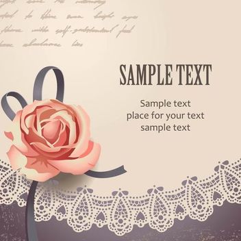 Template Vintage Card with Rose - Kostenloses vector #167191