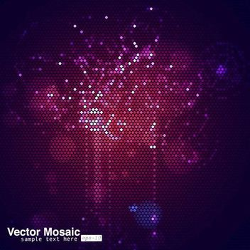 Glowing Purplish Mosaic Background - Free vector #167211