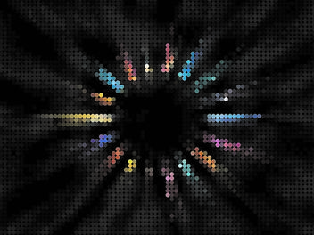 Colorful Radial Mosaic Background - vector gratuit #167251