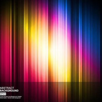 Colorful Glowing Background with Lines - vector gratuit #167271