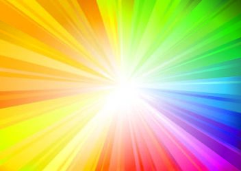 Bright Rainbow Sunbeam Background - vector gratuit #167341