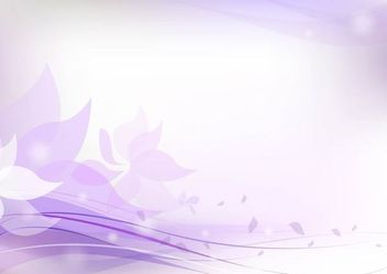 Fluorescent Purplish Floral Background - vector gratuit #167351