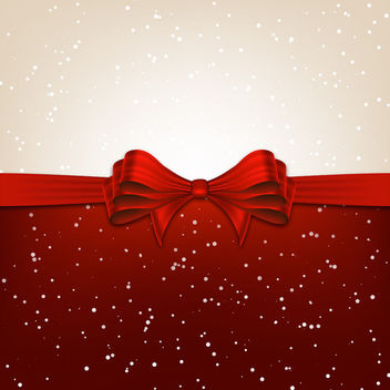 Christmas Background Divided with Ribbon - Kostenloses vector #167591