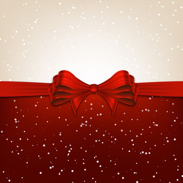 Christmas Background Divided with Ribbon - vector gratuit #167591