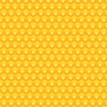 Glossy Hexagonal Honey Pattern - Free vector #167631