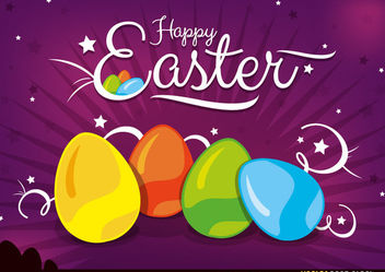 Happy Easter Background - Kostenloses vector #167671