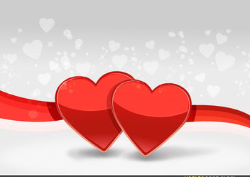 Two Hearts Background - Free vector #167701