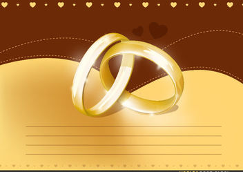 Wedding Invitation Card - vector #167741 gratis