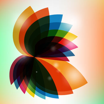 Multicolor Rotated Fluorescent Abstract Leaves - vector gratuit #167751