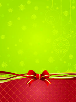 Green & Red Xmas Decorate Background - vector gratuit #167851