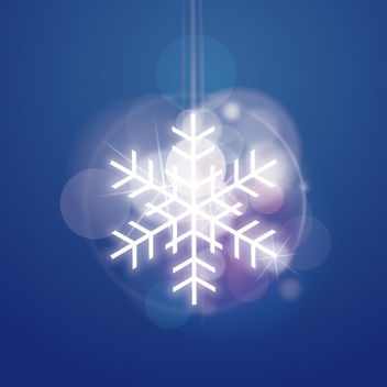 Shiny Snowflake with Glowing Lens - vector gratuit #167901