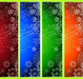Grungy Xmas Banner Background - vector gratuit #167961