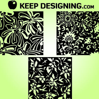 Hand Drawn Vintage Floral Patterns - бесплатный vector #167971