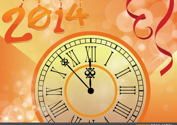 2014 new year countdown clock - Free vector #167981
