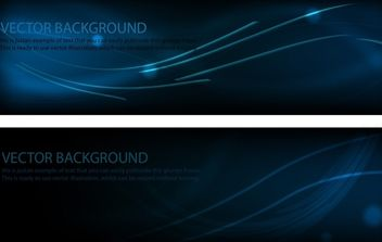 Midnight Blue Template Banner Layout - vector gratuit #168111