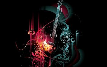Abstract Musical Grungy Background - vector gratuit #168161