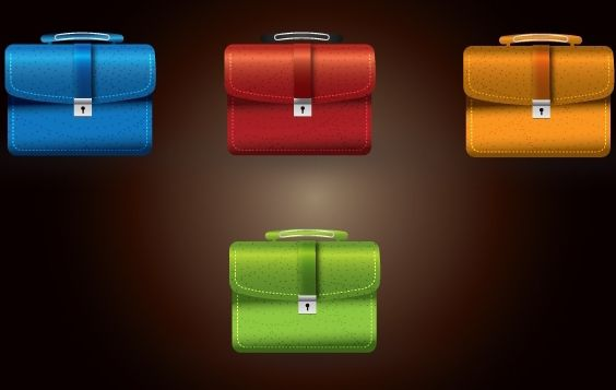 Secured Briefcase Stylish Icon - Free vector #168181