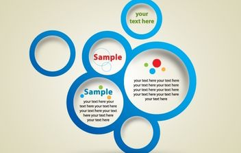 Template Blue Circle Banner - vector gratuit #168211