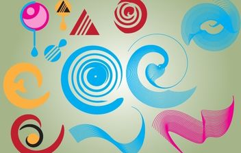 Abstract Shape Pack - Free vector #168221