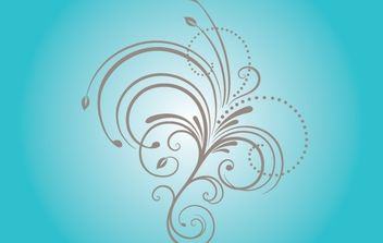 Curly Natural Floral Shape - vector gratuit #168331