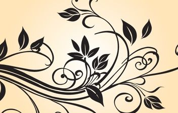 Black & White Floral Ornament - vector gratuit #168351
