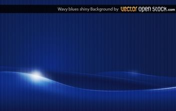 Wavy Shiny Blue Background - vector gratuit #168381
