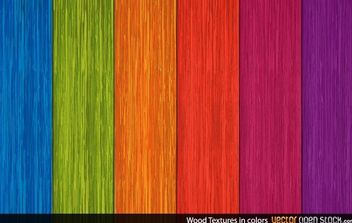 Wood Textures in Colors - vector gratuit #168421