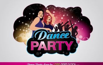 Dance Party Logo - Kostenloses vector #168481