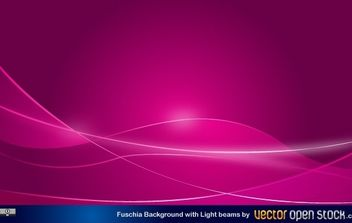 Fucshia Background with light beams - vector gratuit #168521