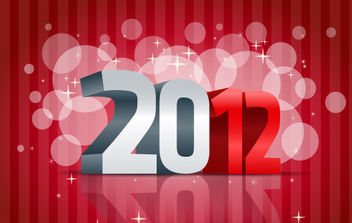 2012 Happy New Year Vector Illustration - Kostenloses vector #168661